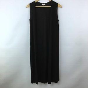 LulaRoe Joy Open Front Cardigan Black Sleeveless